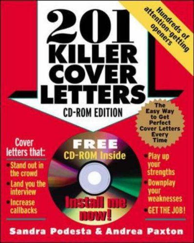 9780071413299: 201 Killer Cover Letters (CD-ROM edition)