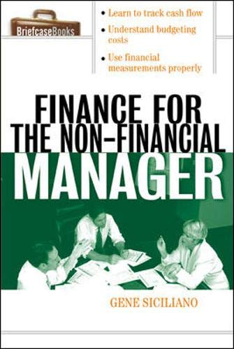 9780071413770: Finance for Non-Financial Managers