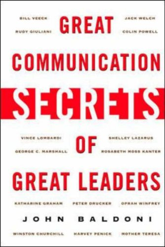 9780071414968: Great Communication Secrets of Great Leaders