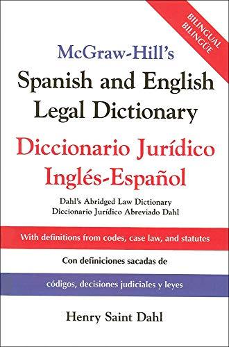 9780071415293: McGraw-Hill's Spanish and English Legal Dictionary : Diccionario Juridico Ingles-Espanol
