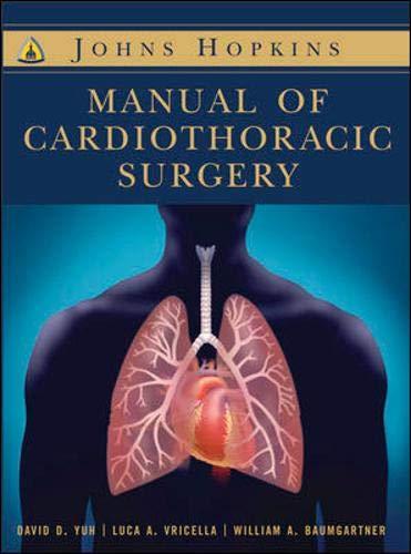 9780071416528: Johns Hopkins Manual of Cardiothoracic Surgery