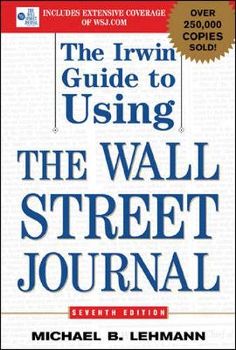 9780071416641: The Irwin Guide to Using the Wall Street Journal