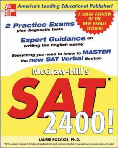 9780071416672: SAT 2400!: A Sneak Preview of the New SAT English Test (Schaum)