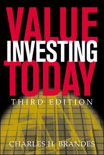 9780071417389: Value Investing Today