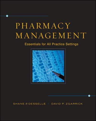 9780071418690: Pharmacy Management