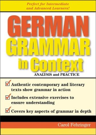 9780071419284: German Grammar in Context
