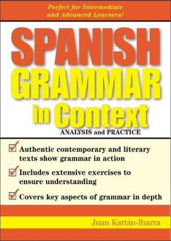9780071419314: Spanish Grammar in Context