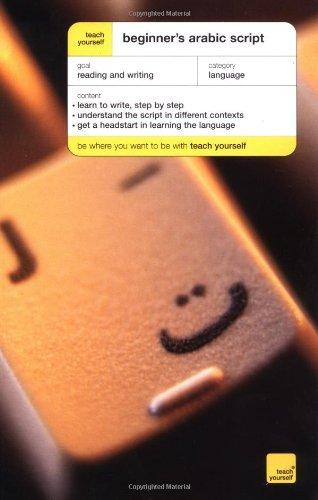 Teach Yourself Beginner's Arabic Script: John Mace