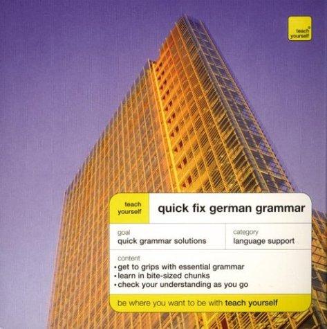 9780071419970: Teach Yourself Quick Fix German Grammar