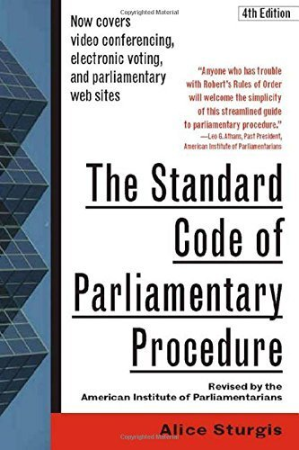 9780071420570: The Standard Code of Parliamentary Procedure, 4th Edition 4th by Sturgis, Alice (2000) Paperback