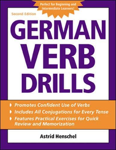 9780071420884: German Verb Drills (Language Verb Drills)