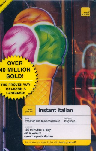 9780071421140: Teach Yourself Instant Italian (Book + CD Pack) (Teach Yourself Language Instant Language)