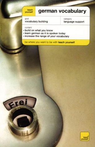 9780071421560: Teach Yourself German Vocabulary (Teach Yourself Vocabulary)