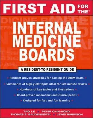 9780071421669: First Aid for the Internal Medicine Boards (First Aid Series)