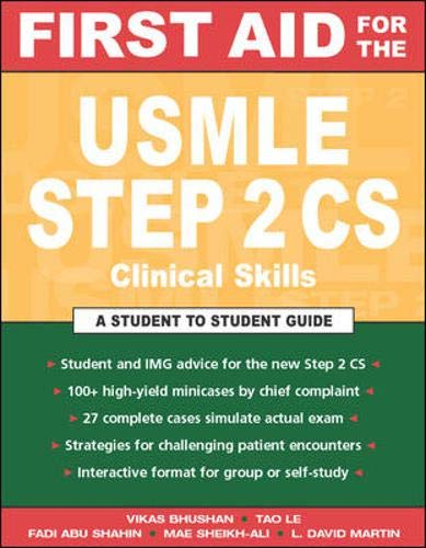 9780071421843: First Aid for the USMLE Step 2: Clinical Skills Exam (First Aid Series)