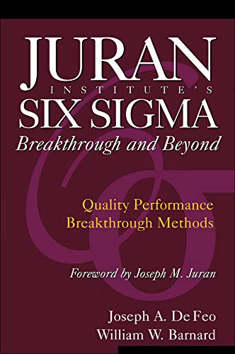 9780071422277: Juran Institute's Six Sigma Breakthrough and Beyond: Quality Performance Breakthrough Methods