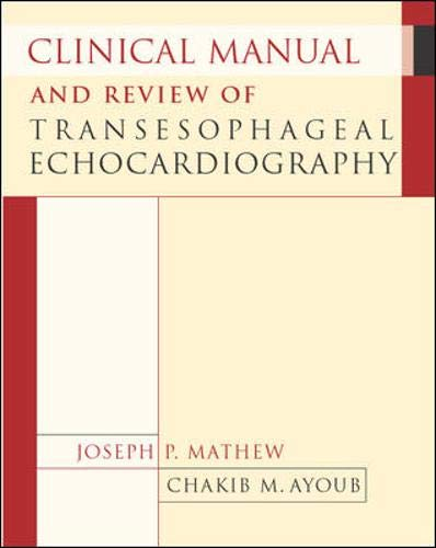 9780071422307: Clinical Manual and Review of Transesophageal Echocardiography