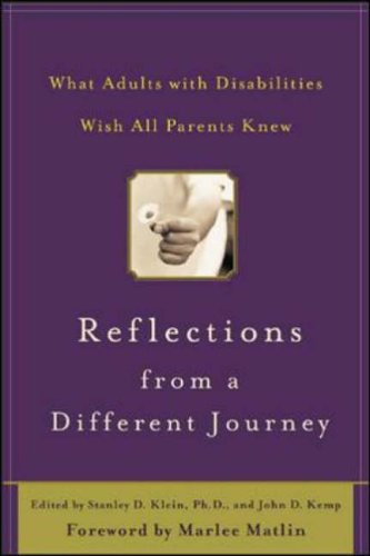 9780071422697: Reflections from a Different Journey: What Adults with Disabilities Wish All Parents Knew