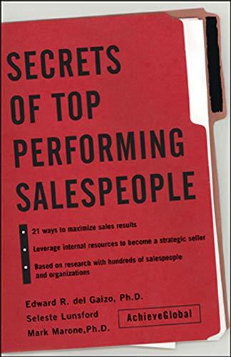 9780071423014: Secrets of Top-Performing Salespeople