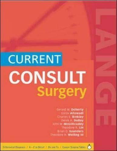 9780071423137: CURRENT CONSULT Surgery (Lange Current Consult)