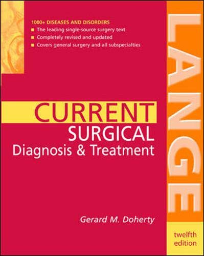9780071423151: CURRENT Surgical Diagnosis & Treatment (LANGE CURRENT Series)