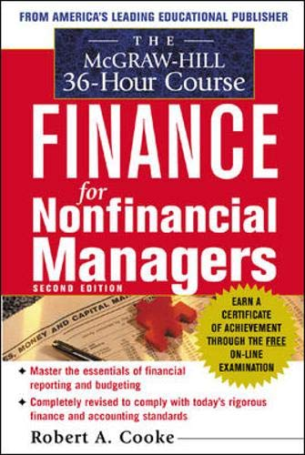 9780071425469: The McGraw-Hill 36-Hour Course In Finance for Non-Financial Managers