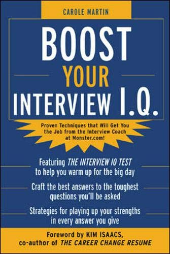 9780071425476: Boost Your Interview IQ