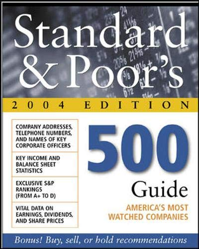 9780071426862: Standard & Poor's 500 Guide, 2004 Edition