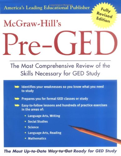 9780071428149: McGraw-Hill's Pre-GED : The Most Comprehensive Review of the Skills Necessary for GED Study