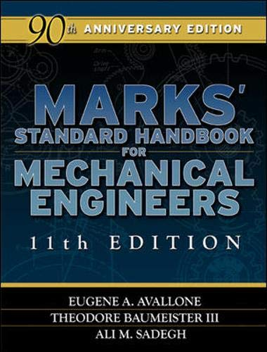 9780071428675: Marks' Standard Handbook for Mechanical Engineers (Mechanical Engineering)