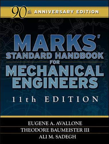 9780071428675: Marks' Standard Handbook for Mechanical Engineers 11th Edition