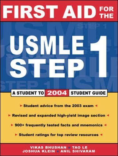 9780071429481: First Aid for the USMLE Step 1: 2004