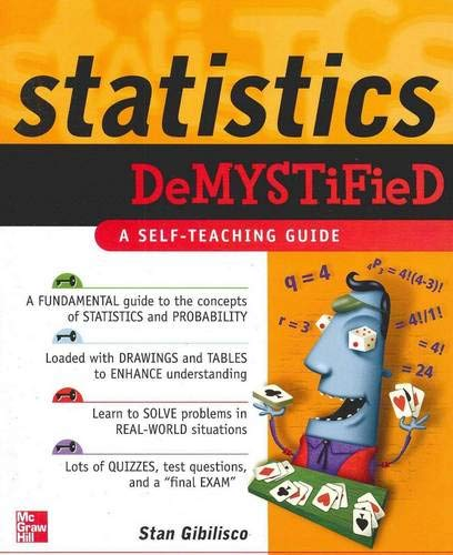 9780071431187: Statistics Demystified: A Self-teaching Guide