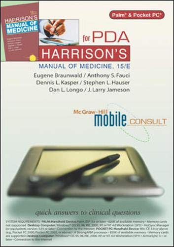 9780071431248: Harrison's Manual of Medicine, 15/e for PDA