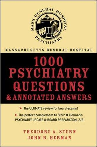 9780071432016: Massachusetts General Hospital 1000 Psychiatry Questions & Annotated Answers
