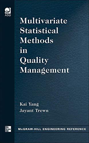 9780071432085: Multivariate Statistical Methods in Quality Management