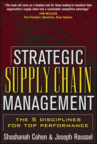Strategic Supply Chain Management: Shoshanah Cohen, Joseph