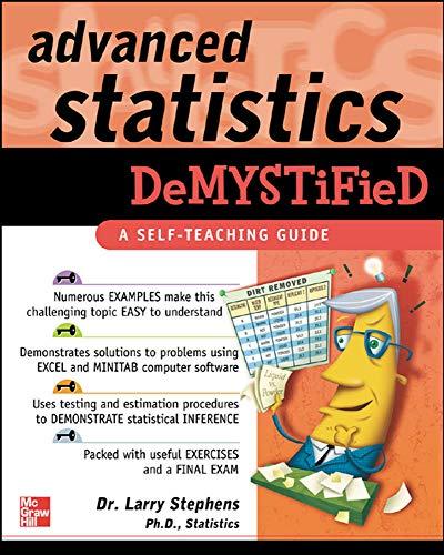 9780071432429: Advanced Statistics Demystified: A Self-teaching Guide