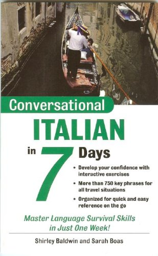 9780071432566: Conversational Italian in 7 Days Package (Book + 2cds) (Conversational... in 7 Days)