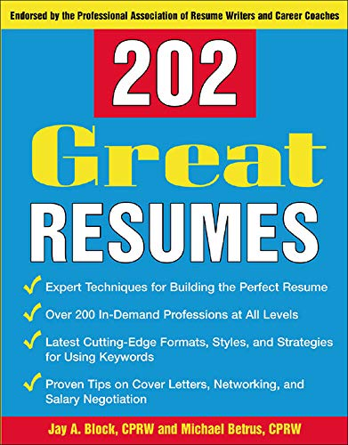 9780071433167: 202 Great Resumes