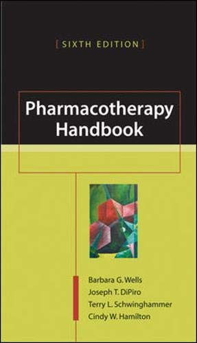 9780071433228: Pharmacotherapy Handbook