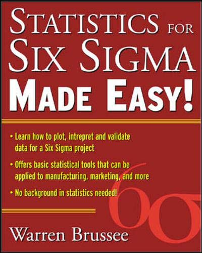 Statistics for Six Sigma Made Easy: Brussee, Warren