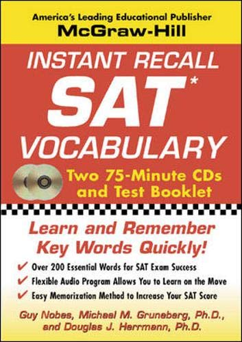 9780071435154: Instant Recall SAT Vocabulary