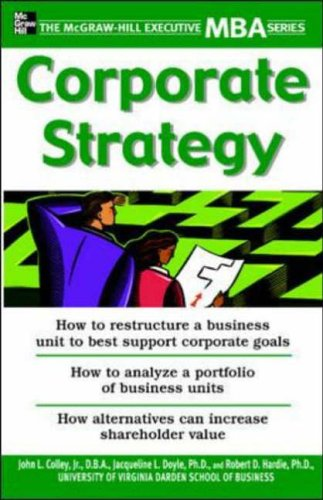 9780071435383: Corporate Strategy (McGraw-Hill Executive MBA Series)