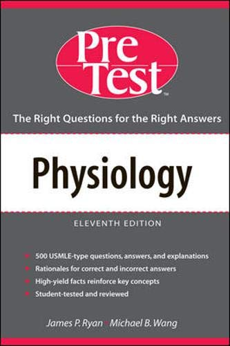 9780071436533: Physiology: PreTest Self-Assesment & Review (Pre-Test Basic Science Series)