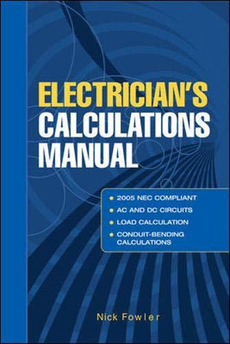 9780071436540: Electricians Calculations Manual