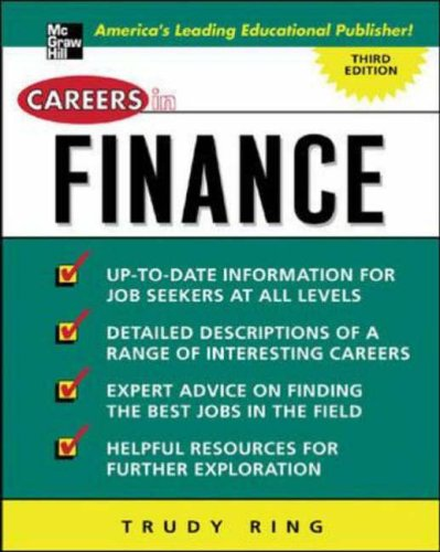 9780071437363: Careers in Finance (Careers in...Series)