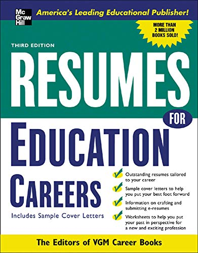9780071437387: Resumes for Education Careers: With Sample Cover Letters (McGraw-Hill Professional Resumes)