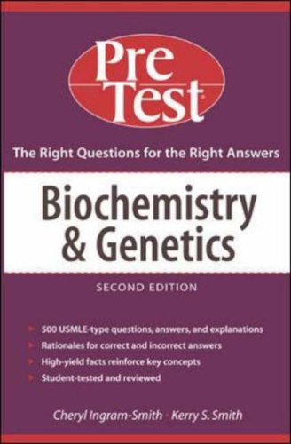 9780071437479: Biochemistry and Genetics: PreTest Self-Assessment and Review (PreTest Basic Science)