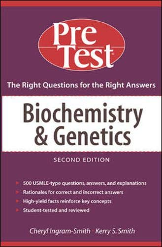 9780071437479: Biochemistry and Genetics: PreTest Self-Assessment and Review (Pre-Test Basic Science Series)